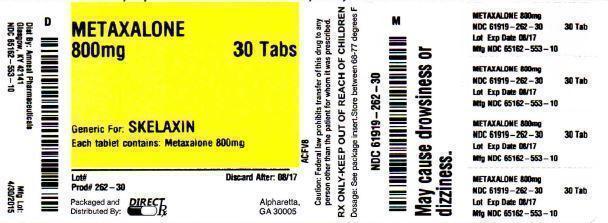 Metaxalone (Metaxalone Tablet) Tablet [Direct Rx]