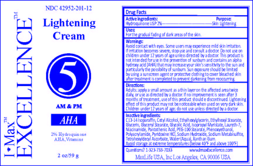 I-max Lightening 5 (Hydroquinone) Cream [Maxlife Usa, Inc.]
