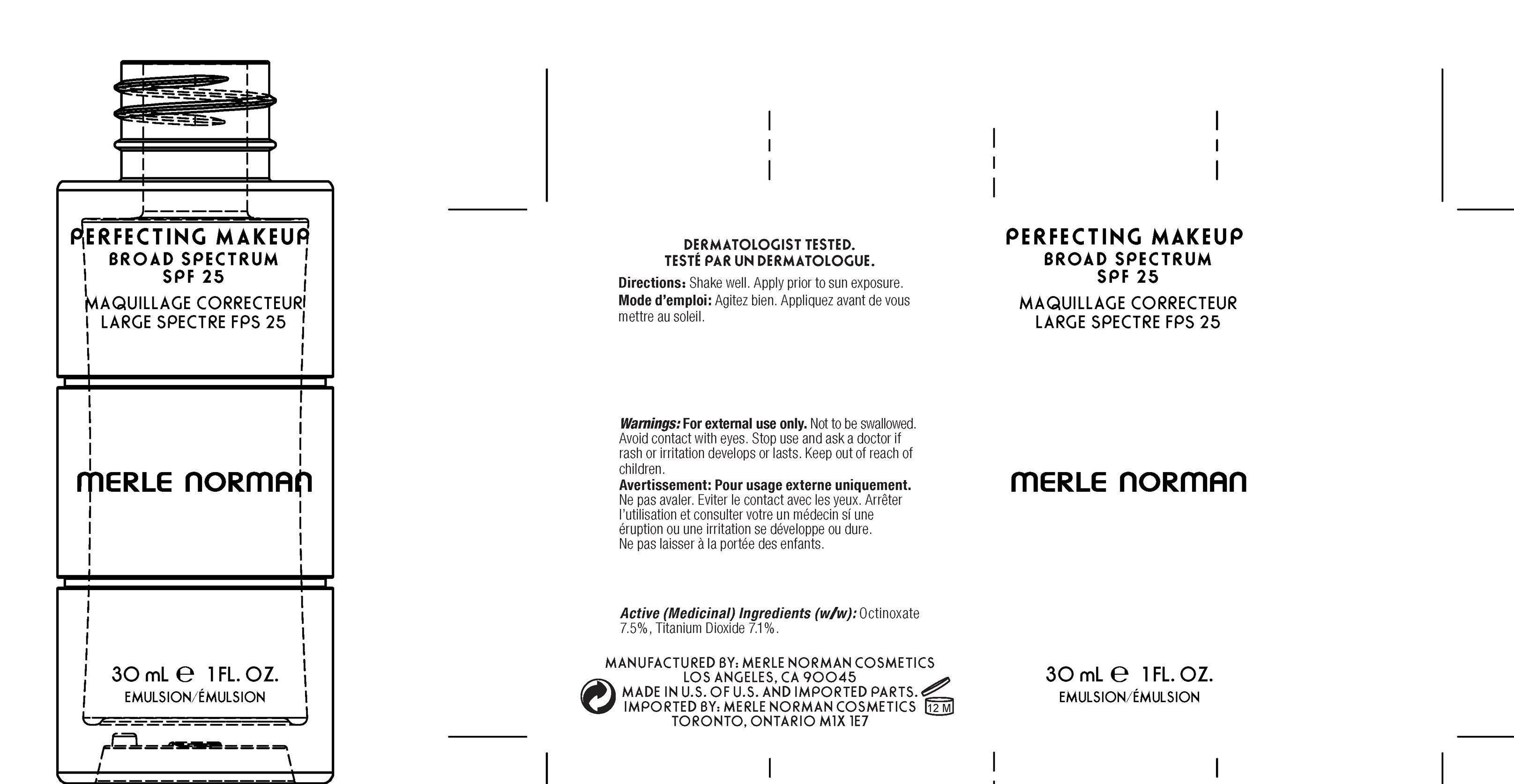 Soft Bisque Perfecting Makeup Spf 25 Merle Norman (Octinoxate, Titanium Dioxide) Emulsion [Merle Norman Cosmetics, Inc]