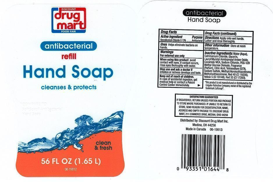 Discount Drug Mart Antibacterial Clean And Fresh (Benzalkonium Chloride) Liquid [Discount Drug Mart]