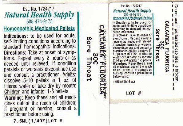 Sore Throat (Calcium Fluoride) Pellet [Natural Health Supply]