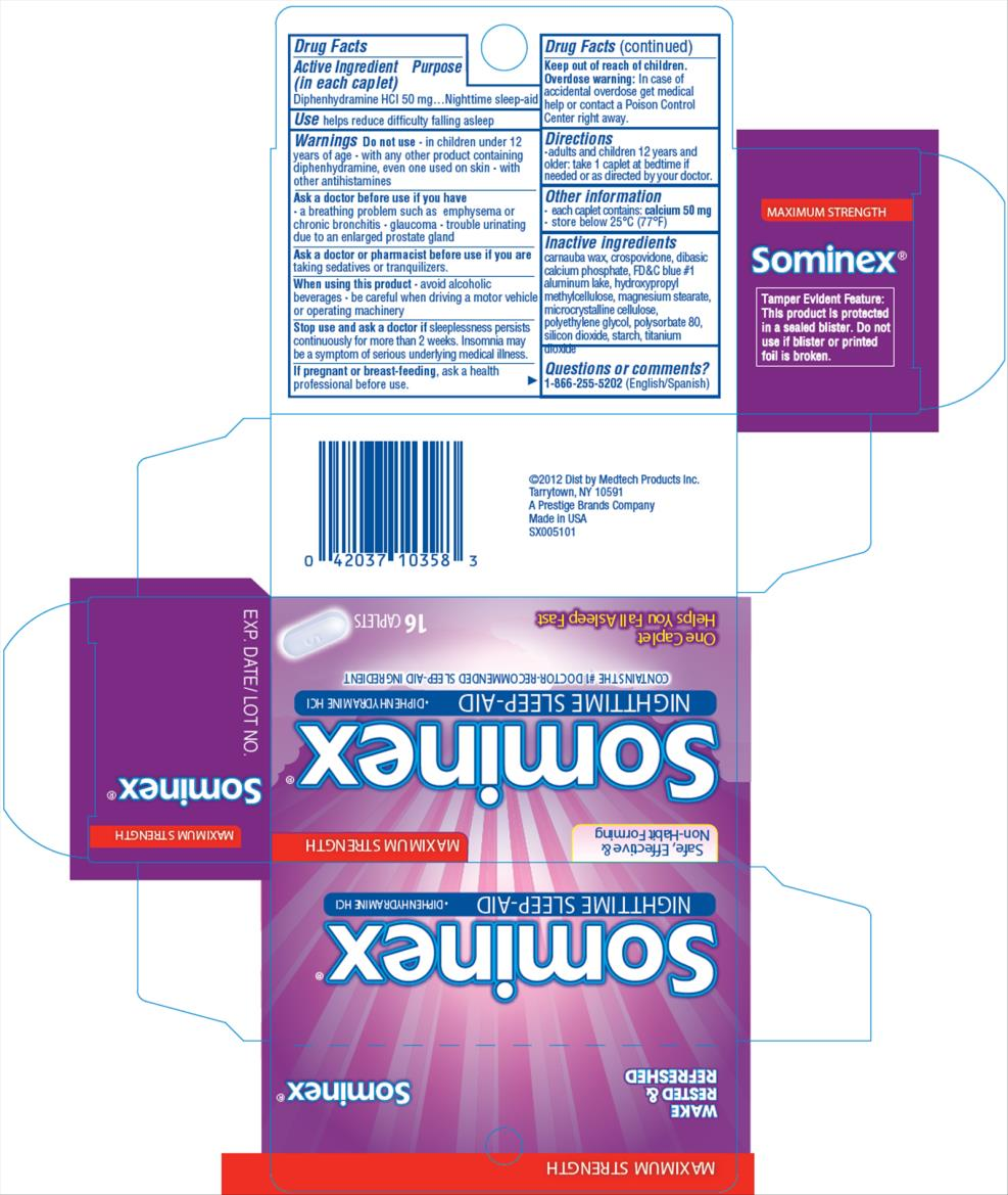 Sominex Max (Diphenhydramine Hcl) Tablet [Medtech Products Inc.]