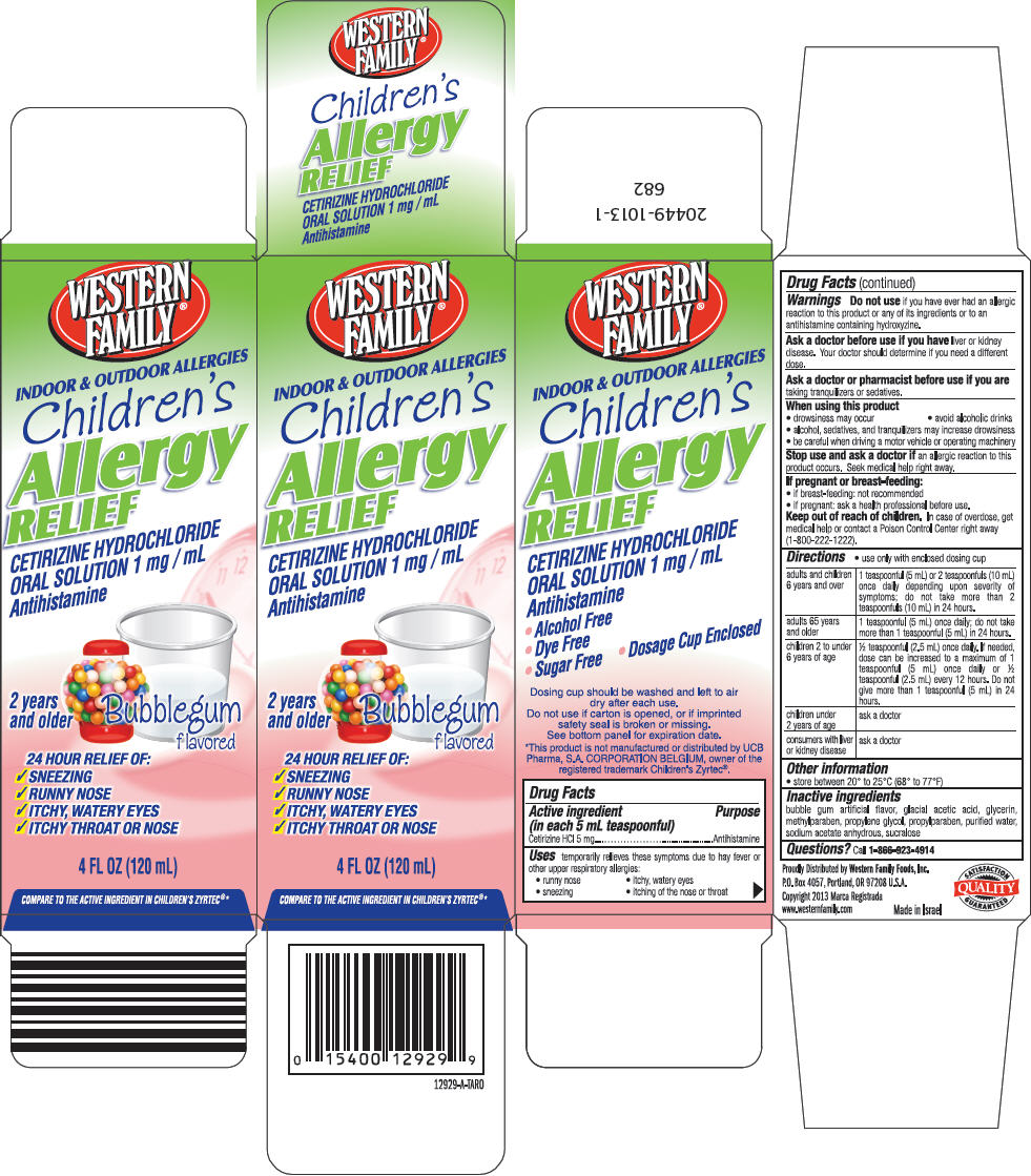 Western Family Childrens Allergy Relief (Cetirizine Hydrochloride) Solution [Western Family Foods Inc]