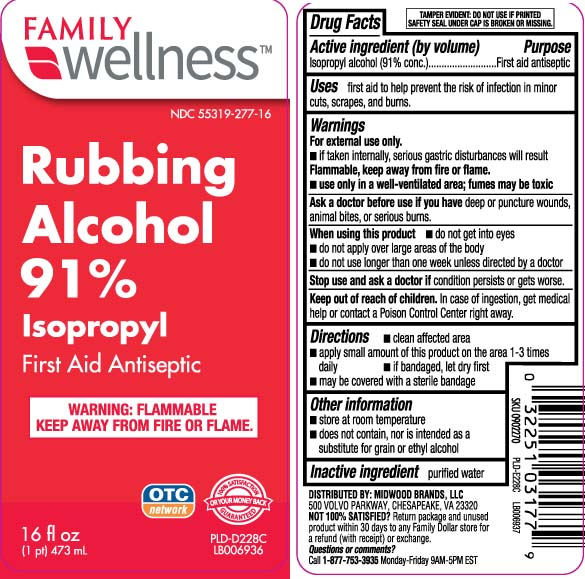 Isopropyl Alcohol 91 Percent (Isopropyl Alcohol) Liquid [Family Dollar (Family Wellness)]