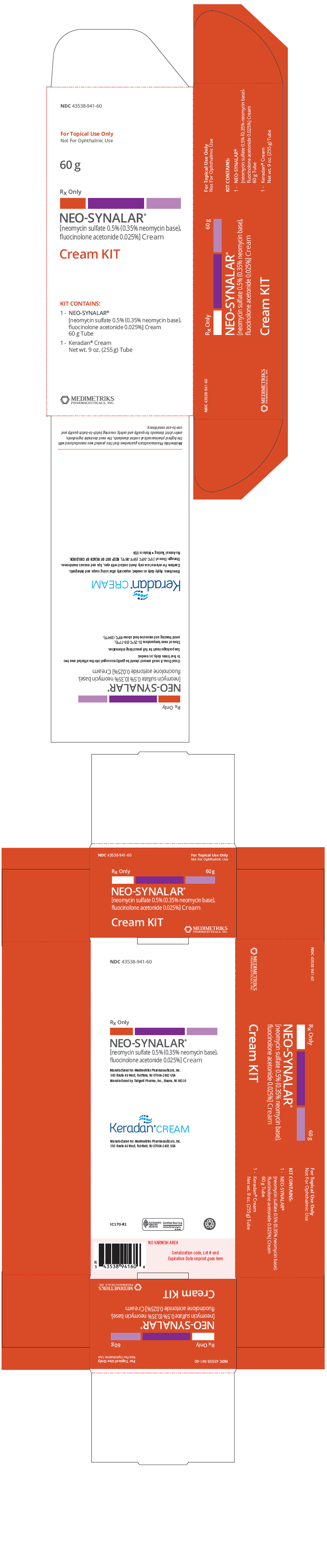 Neo-synalar (Neomycin Sulfate And Fluocinolone Acetonide) Kit [Medimetriks Pharmaceuticals]