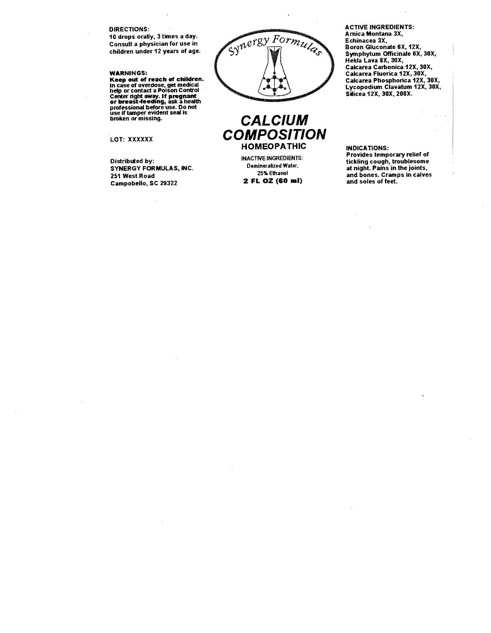 Calcium Composition