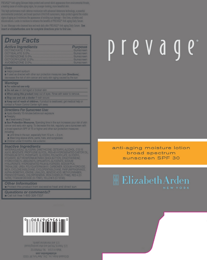 Prevage Anti Aging Moisture Broad Spectrum Sunscreen Spf 30 (Octinoxate, Octisalate, Oxybenzone, Octocrylene, And Avobenzone) Lotion [Elizabeth Arden, Inc]