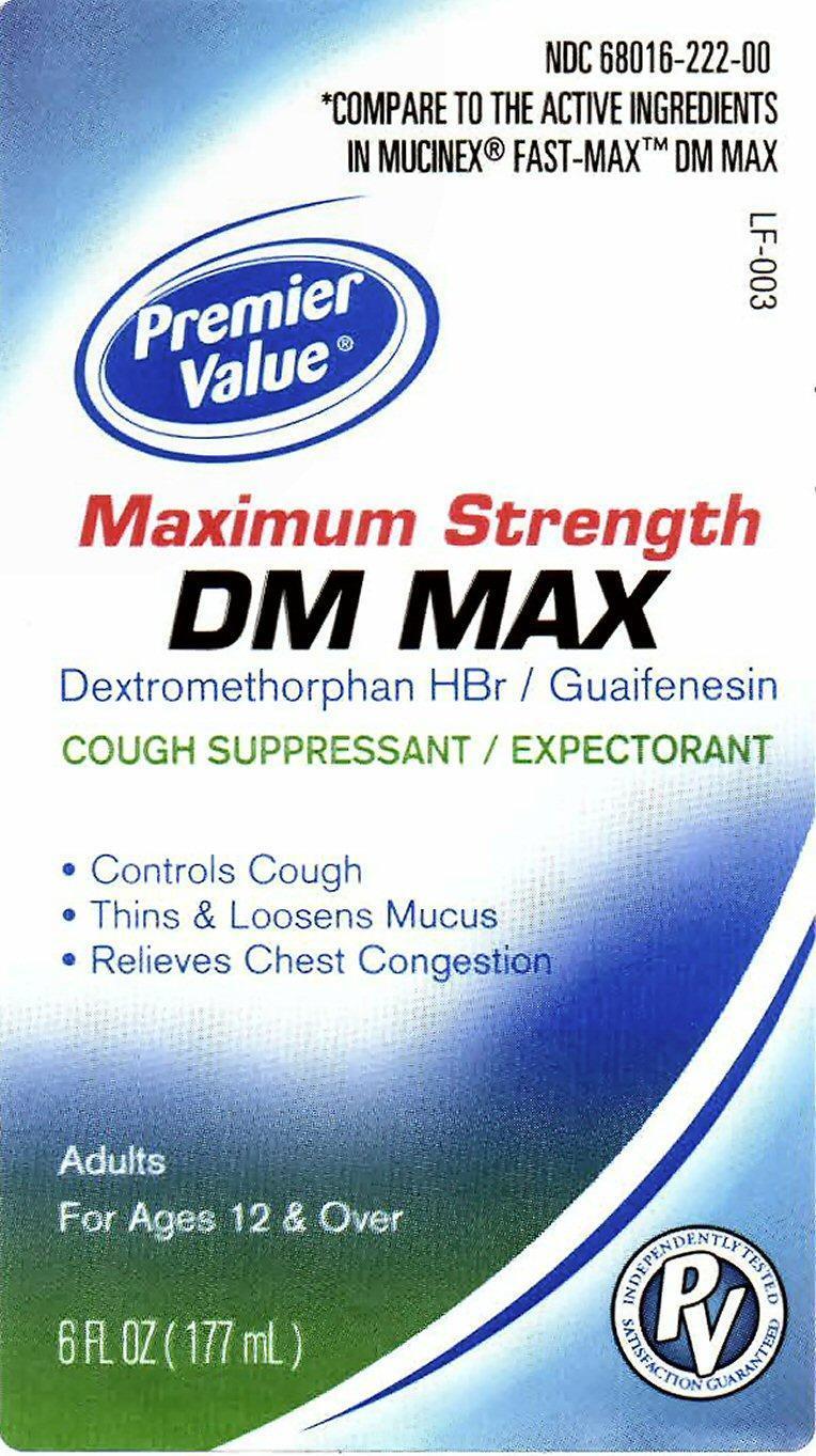 Dm Max Maxium Strength (Dextromethorphan Hydrobromide, Guaifenesin) Liquid [Chain Drug Consortium, Llc]