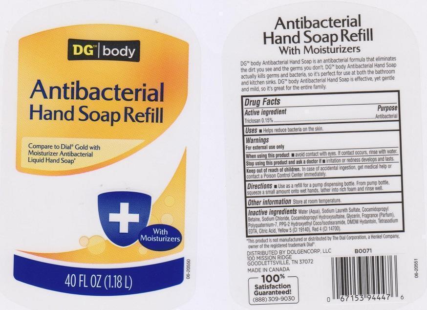 Dg Body Antibacterial Hand (Triclosan) Soap [Dolgencorp Inc]