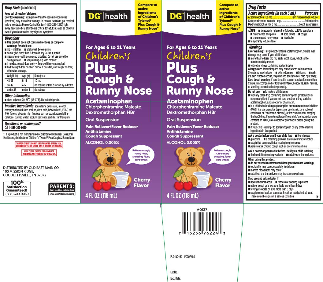 Childrens Plus Cough And Runny Nose (Acetaminophen, Chlorpheniramine Maleate, Dextromethorphan Hydrobromide) Suspension [Dolgencorp, Inc. (Dollar General & Rexall)]