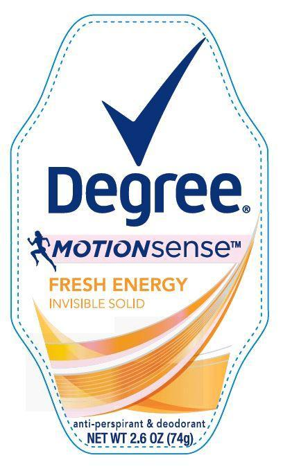 Degree Motion Sense Fresh Energy Antiperspirant And Deodorant (Aluminum Zirconium Tetrachlorohydrex Gly) Stick [Conopco Inc. D/b/a Unilever]