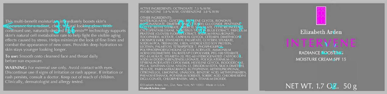Intervene Radiance Boosting Moisture Spf 15 (Octinoxate) Cream [Elizabeth Arden, Inc]