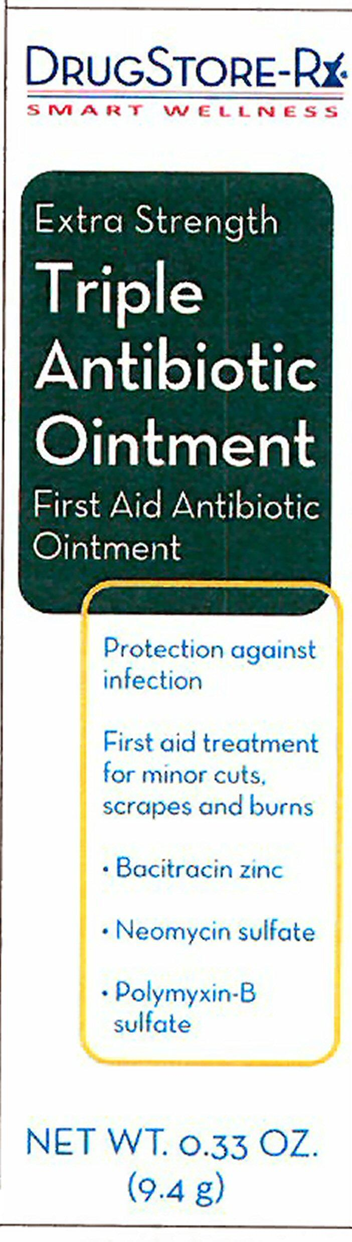 Triple Antibiotic Extra Strength (Bacitracin Zinc, Neomycin Sulfate, Polymyxin B Sulfate) Ointment [Personal Care Products, Inc.]
