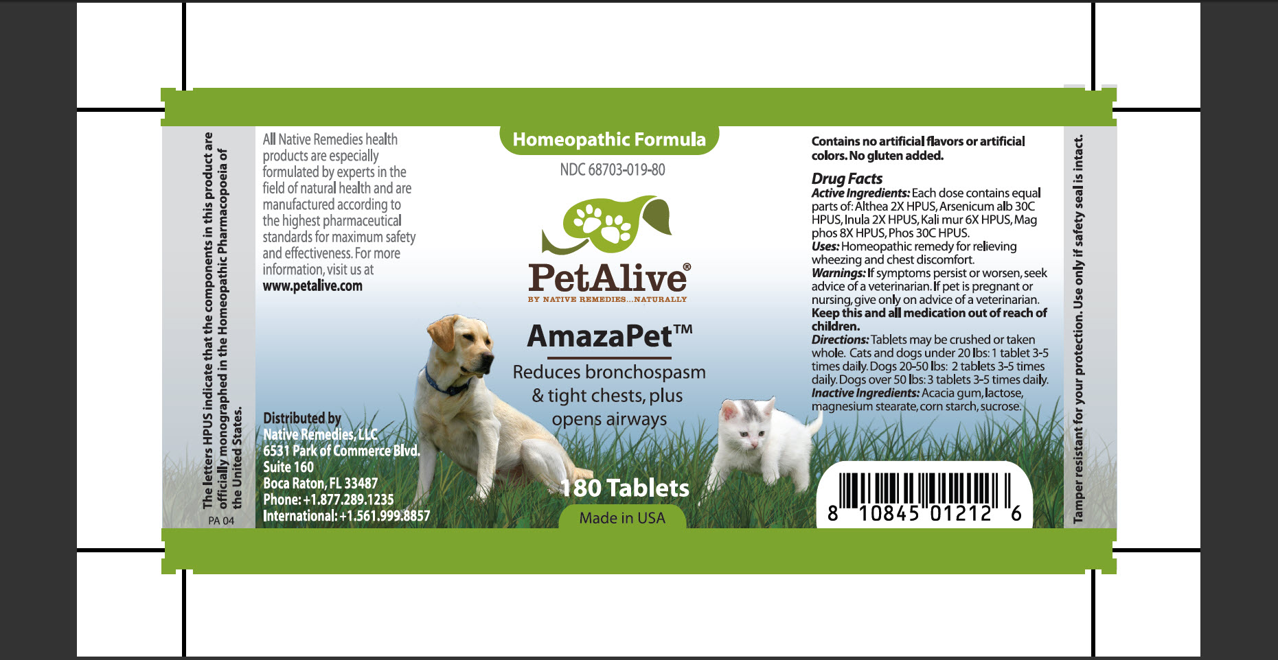Amazapet (Althea, Arsenicum Alb, Inula, Kali Mur, Mag Phos, Phos) Tablet [Native Remedies, Llc]