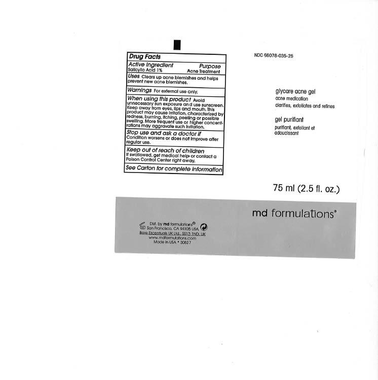 Glycare Acne (Glycolic Acid) Gel [Md Formulation]