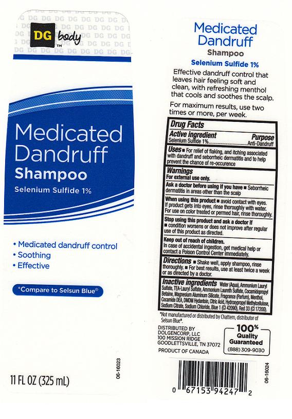 Dg Body Medicated Dandruff (Selenium Sulfide) Shampoo [Dolgencorp Inc]