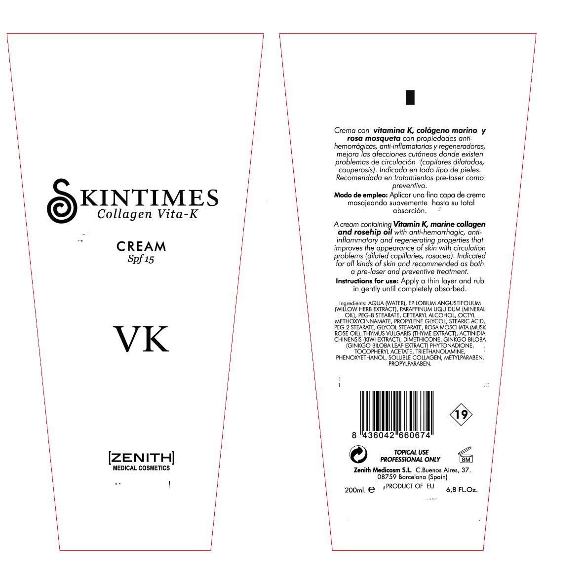 Vita K (Octinoxate) Cream [Zenith Medicosm Sl]