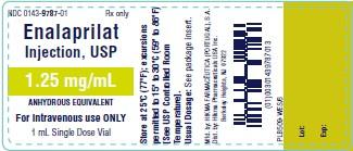 Enalaprilat Injection, USP 1.25 mg/mL