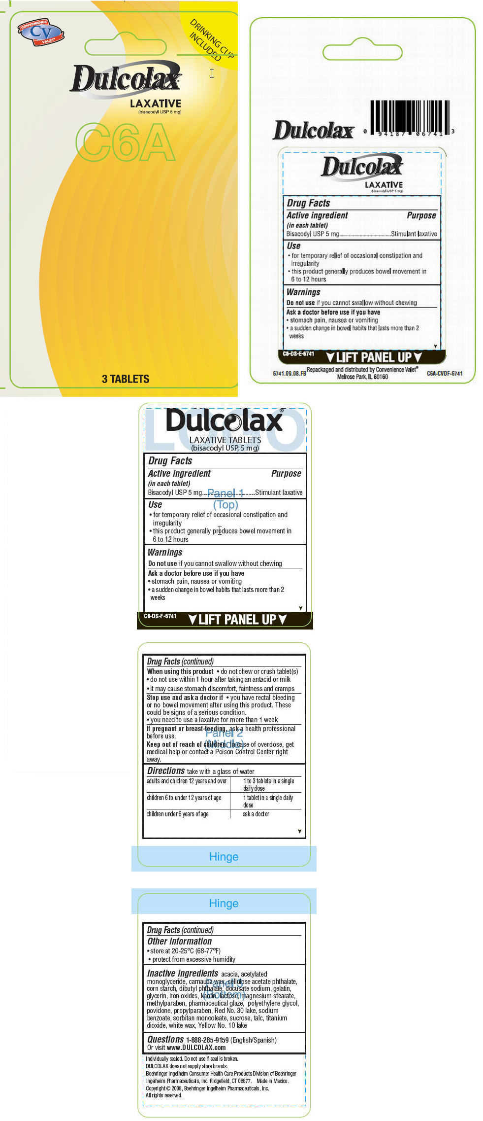 Dulcolax (Bisacodyl) Tablet, Coated [Mechanical Servants, Inc.]