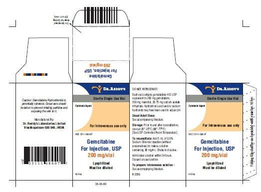 gemcitabine for injection 200 mg carton 1ct