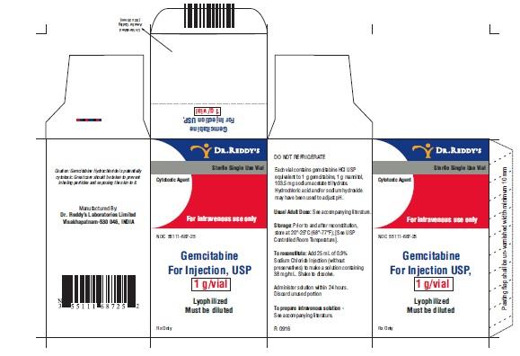 gemcitabine for injection 1 g carton 1ct