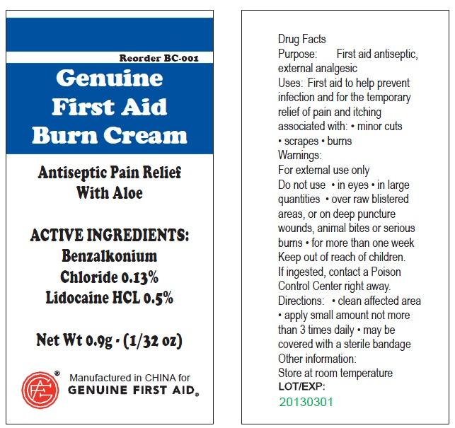 Gfa First Aid (Benzalkonium Chloride, Benzalkonium Chloride, Lidocaine, Povidone-iodine, Bacitracin Zinc, Neomycin Sulfate, Polymyxin B) Kit [Genuine First Aid, Llc]