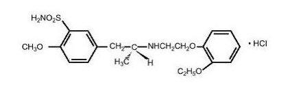 tamsulosin hydrochloride structural formula
