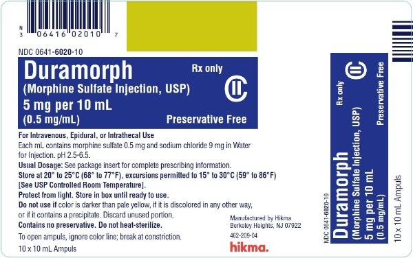Duramorph (Morphine Sulfate) Injection [West-ward Pharmaceutical Corp.]