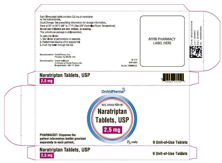 2.5 mg carton