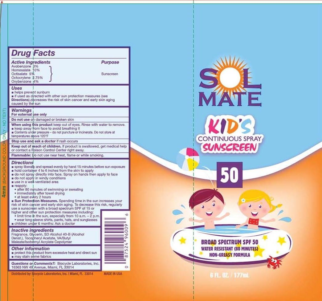 Solmate Broad Spectrum Spf 50 (Avobenzone, Homosalate, Octisalate, Octocrylene And Oxybenzone) Spray [Prime Packaging, Inc.]
