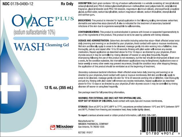 Ovace Plus (Sulfacetamide Sodium) Liquid [Mission Pharmacal Company]