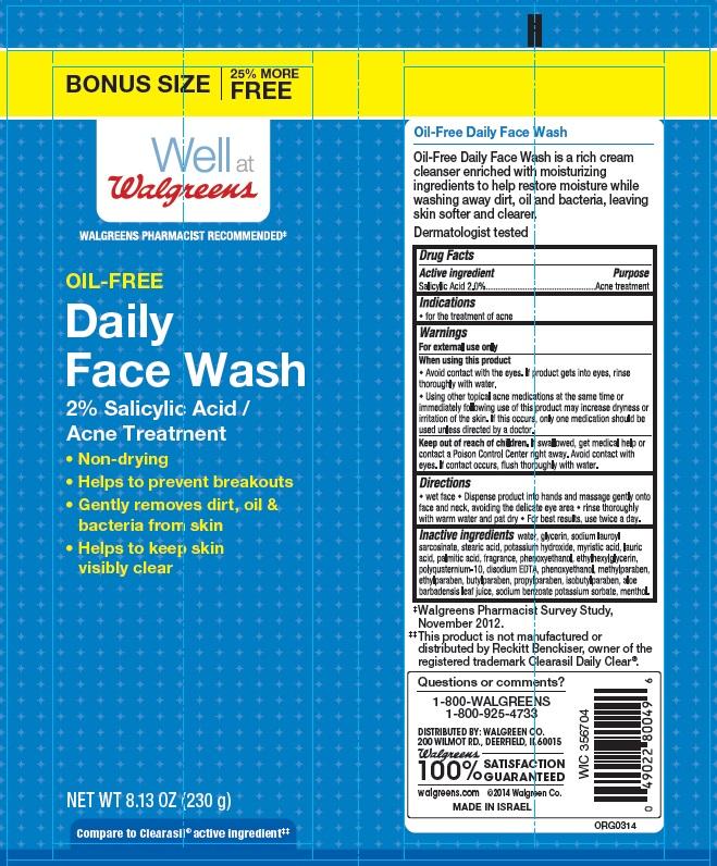 Oil-free Daily Face (Salicylic Acid) Cream [Walgreen Company]