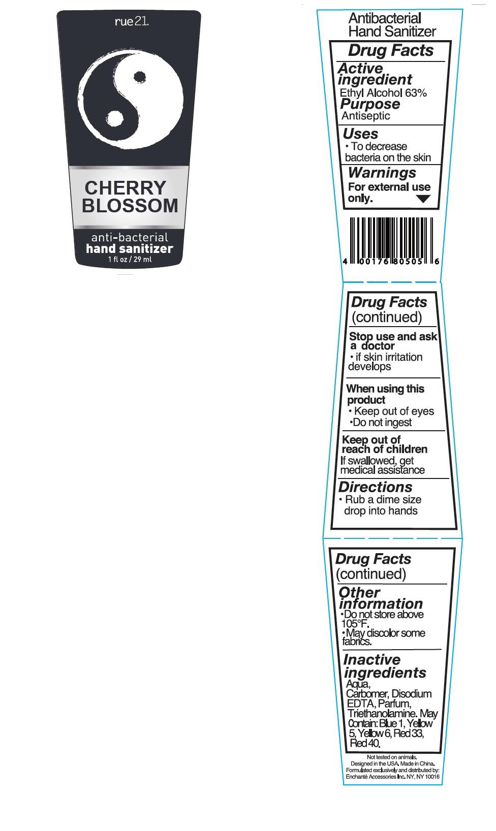 Rue21 Cherry Blossom Antibacterial Hand Sanitizer (Alcohol) Liquid [Enchante Accessories Inc. ]