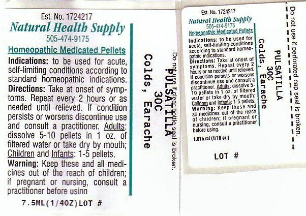 Colds Earache (Pulsatilla Vulgaris) Pellet [Natural Health Supply]