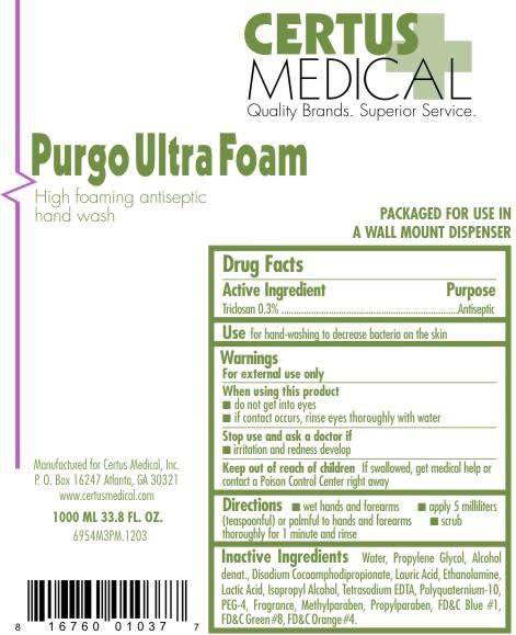 Purgo Ultra Foam (Triclosan) Soap [Certus Medical, Inc.]
