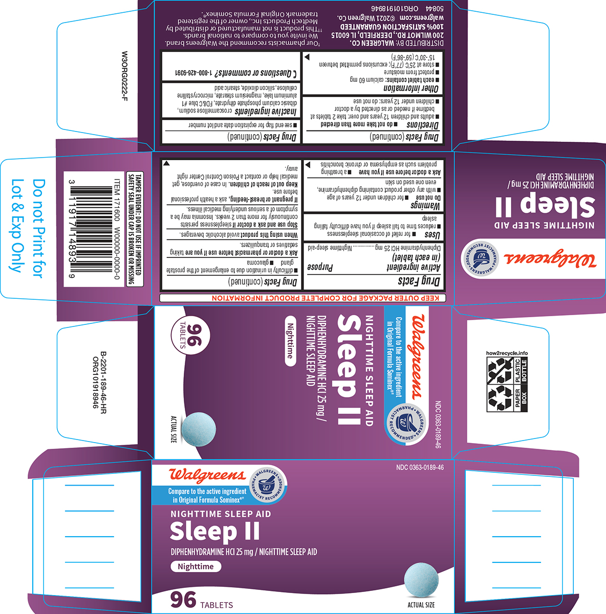 Sleep Ii (Diphenhydramine Hcl) Tablet [Walgreen Co.]