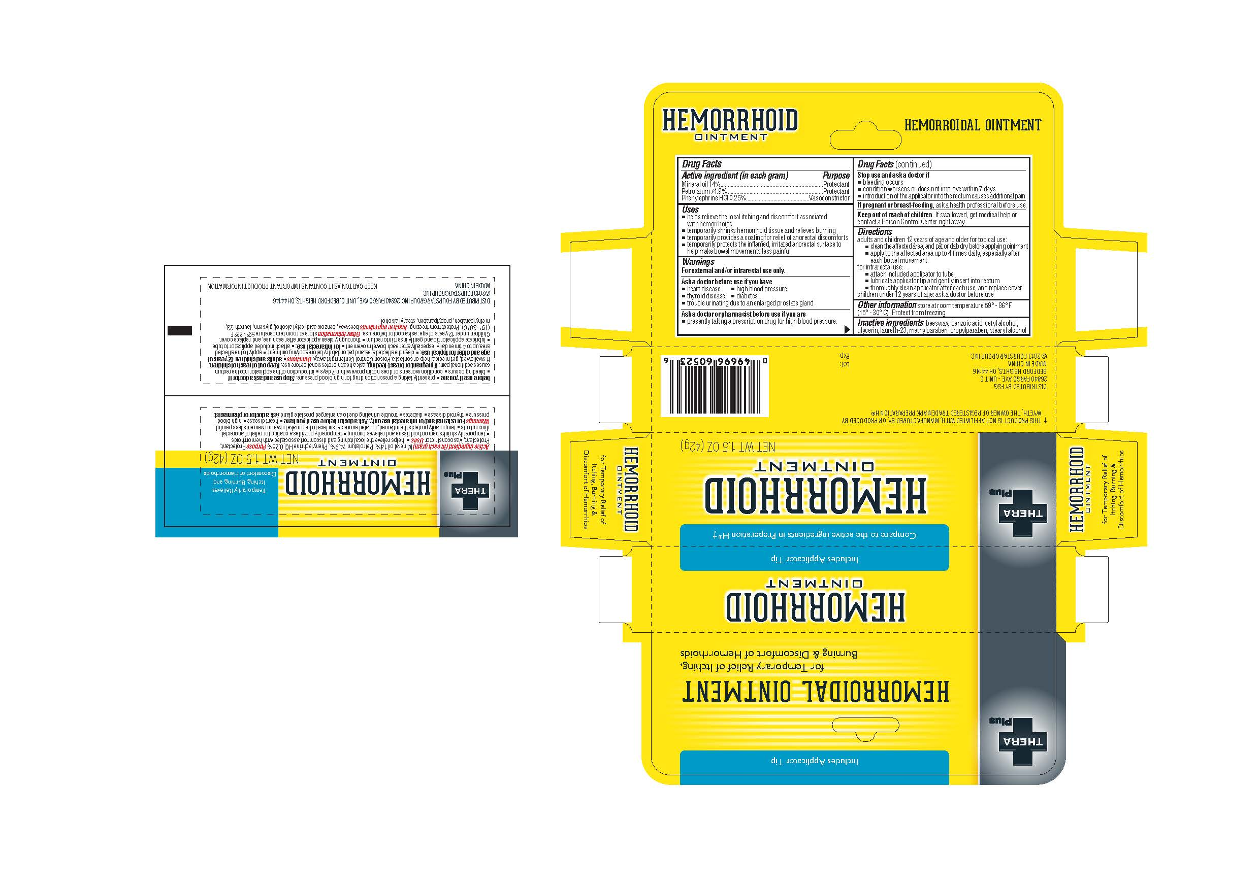 Theraplus Plus (Phenylephrine Hci) Ointment [Zhejiang Jingwei Pharmaceutical Co., Ltd.]