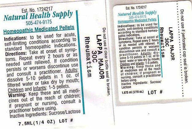 Rheumatism (Arctium Lappa Root) Pellet [Natural Health Supply]
