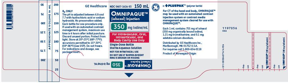 PRINCIPAL DISPLAY PANEL - 300 mgI/mL Bottle Label