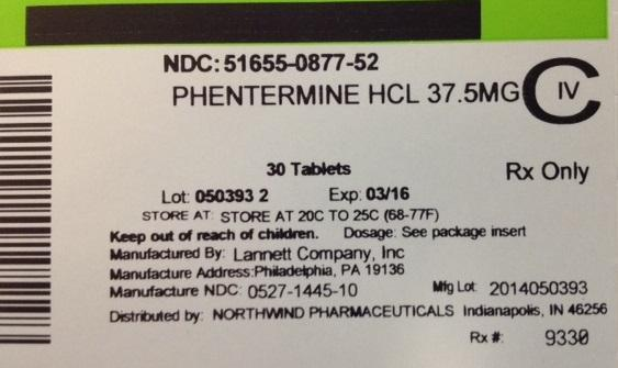 Phentermine Hydrochloride Tablet [Northwind Pharmaceuticals]