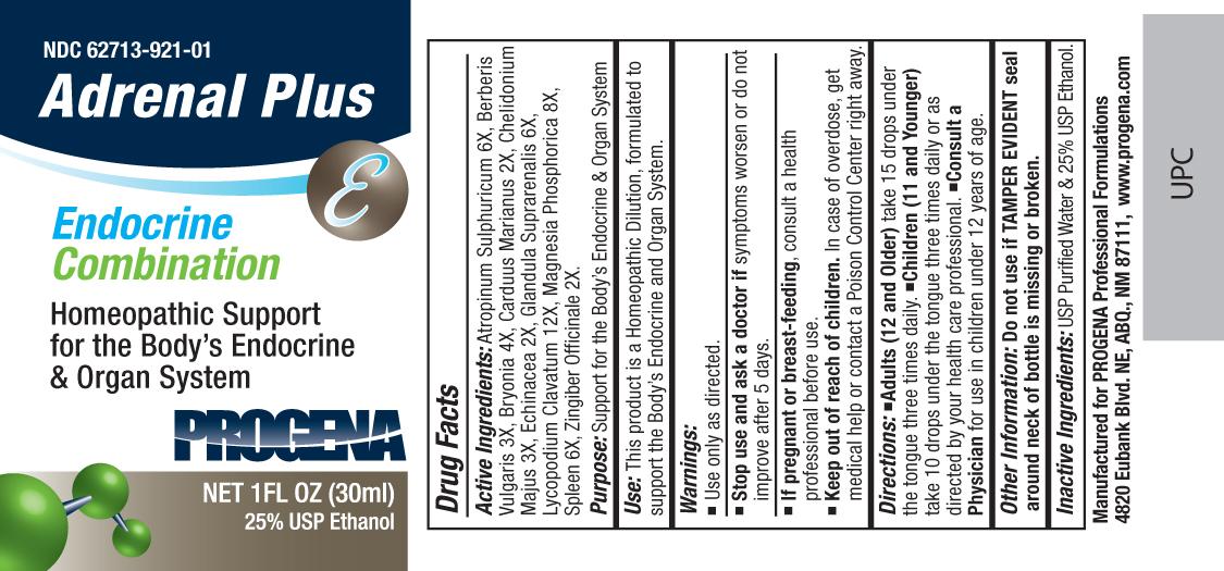 Progena Adrenal Plus (Atropinum Sulphuricum, Berberis Vulgaris, Bryonia, Carduus Marianus, Chelidonium Majus, Echinacea, Glandula Suprarenalis, Lycopodium Clavatum, Magnesia Phosphorica, Spleen, Zingiber Officinale) Liquid [Meditrend, Inc. Dba Progena Professional Formulations]