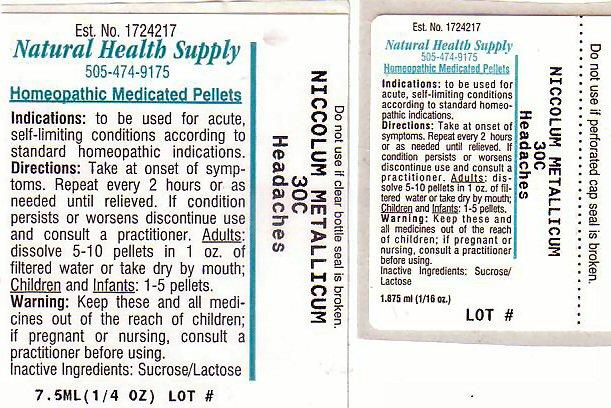 Headache (Nickel) Pellet [Natural Health Supply]