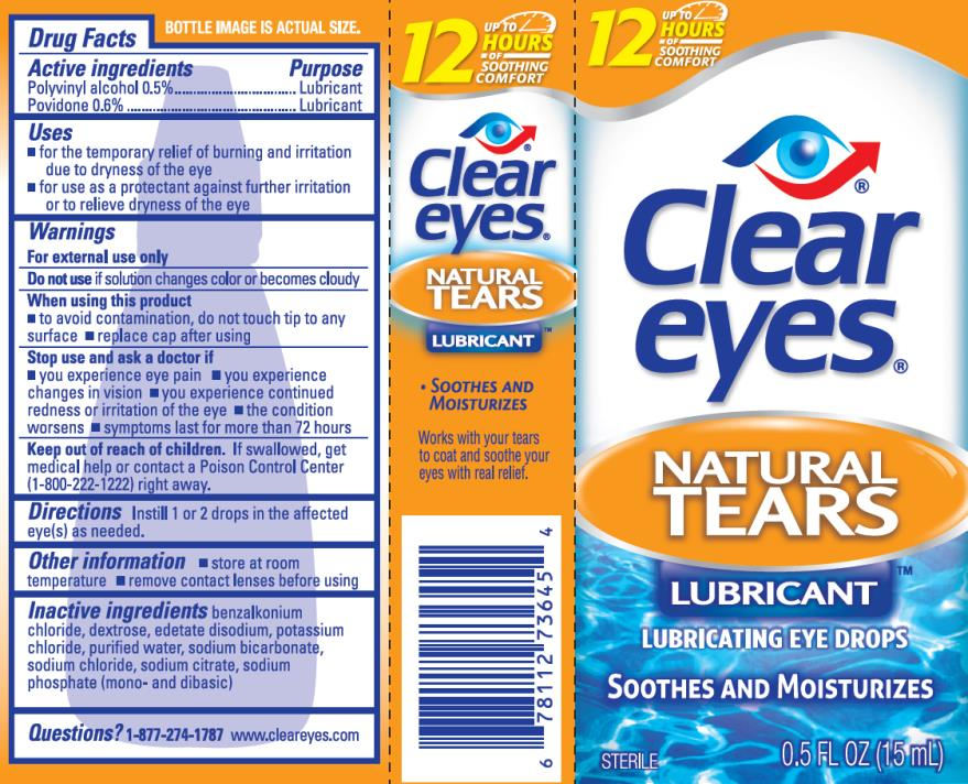 Clear Eyes Natural Tears (Polyvinyl Alcohol And Povidone) Liquid [Prestige Brands Holdings, Inc.]