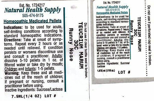 Runny Nose (Teucrium Marum) Pellet [Natural Health Supply]