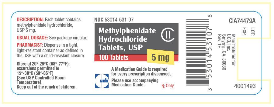 Methylphenidate Hydrochloride Tablet [Unither Manufacturing, Llc]