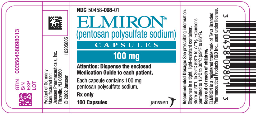 Elmiron (Pentosan Polysulfate Sodium) Capsule, Gelatin Coated [Janssen Pharmaceuticals, Inc.]