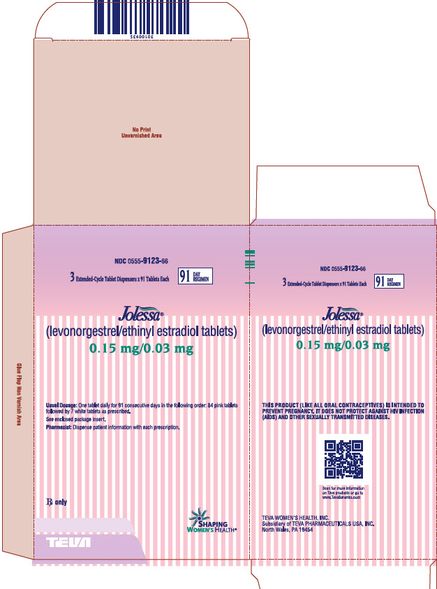 JOLESSA® (levonorgestrel/ethinyl estradiol tablets) 0.15 mg/0.03 mg, 3 Extended-Cycle Tablet Dispensers; 91 Tablets Each, Carton, Part 2 of 2