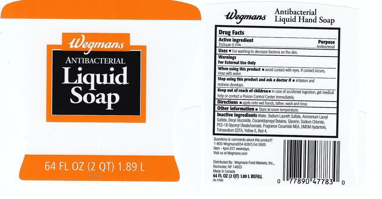 Wegmans (Triclosan) Liquid [Wegmans Food Markets Inc.]