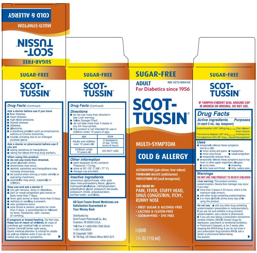 SCOT- TUSSIN MULTI-SYMPTOM COLD & ALLERGY