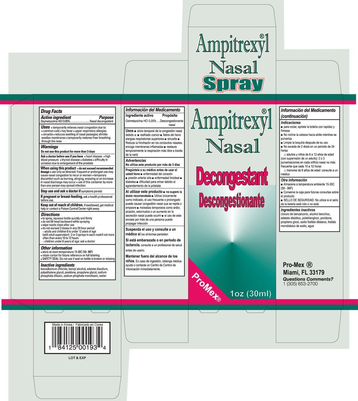 Nasal Decongestant (Oxymetazoline Hcl) Spray [Promex, Llc]